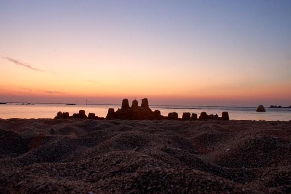 Sandcastle at sunrise. by Gerryatric