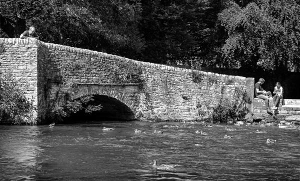 Bridge at Ashford in the Water by lagomorphhunter