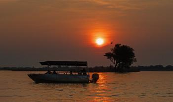 Sunset shot on the Chobe river