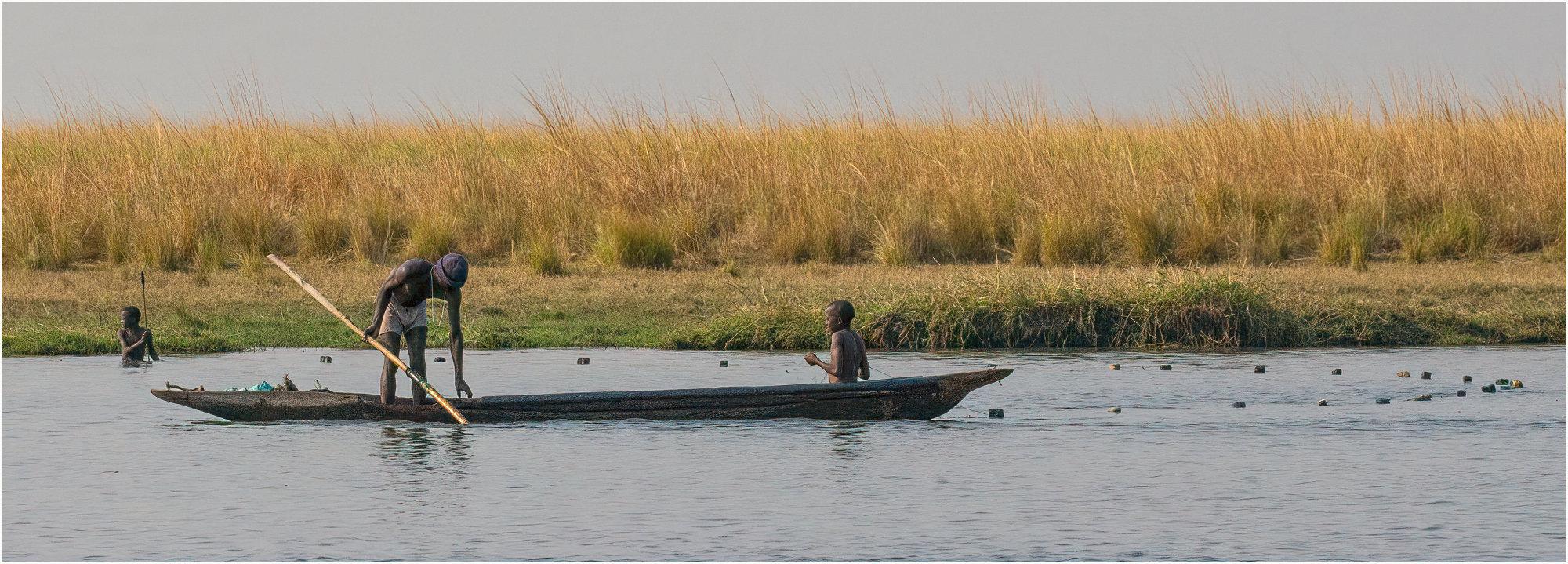 Fishing in the Chobe river.