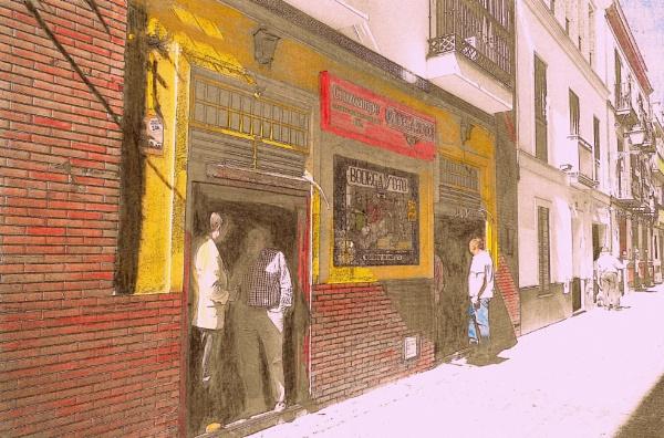 La Macerena drinkers. by rustyshackleford