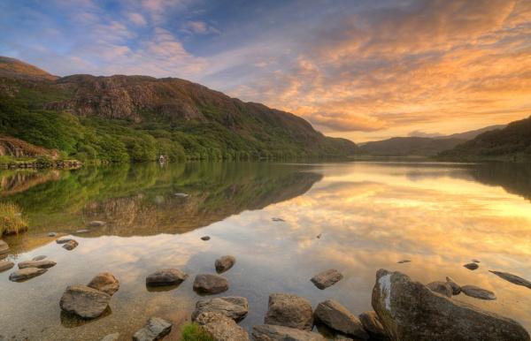 Sunrise Llyn Dinas, Snowdonia by Brenty