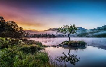 Rydal Water Misty Morning