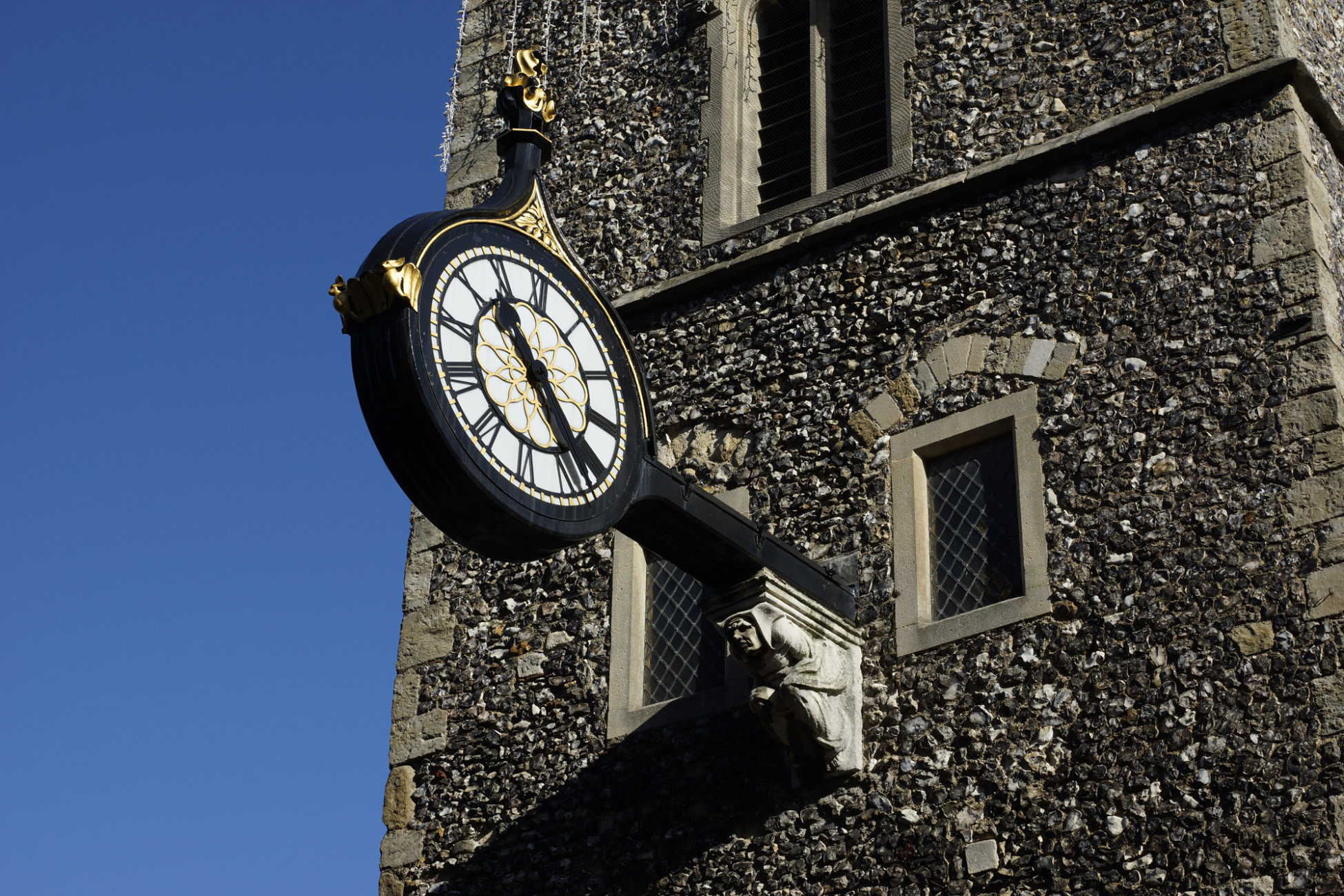 St. Georges Tower Clock. Canterbury.