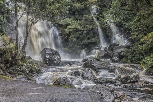 The waterfall at Inversnaid Scotland. by sidnox
