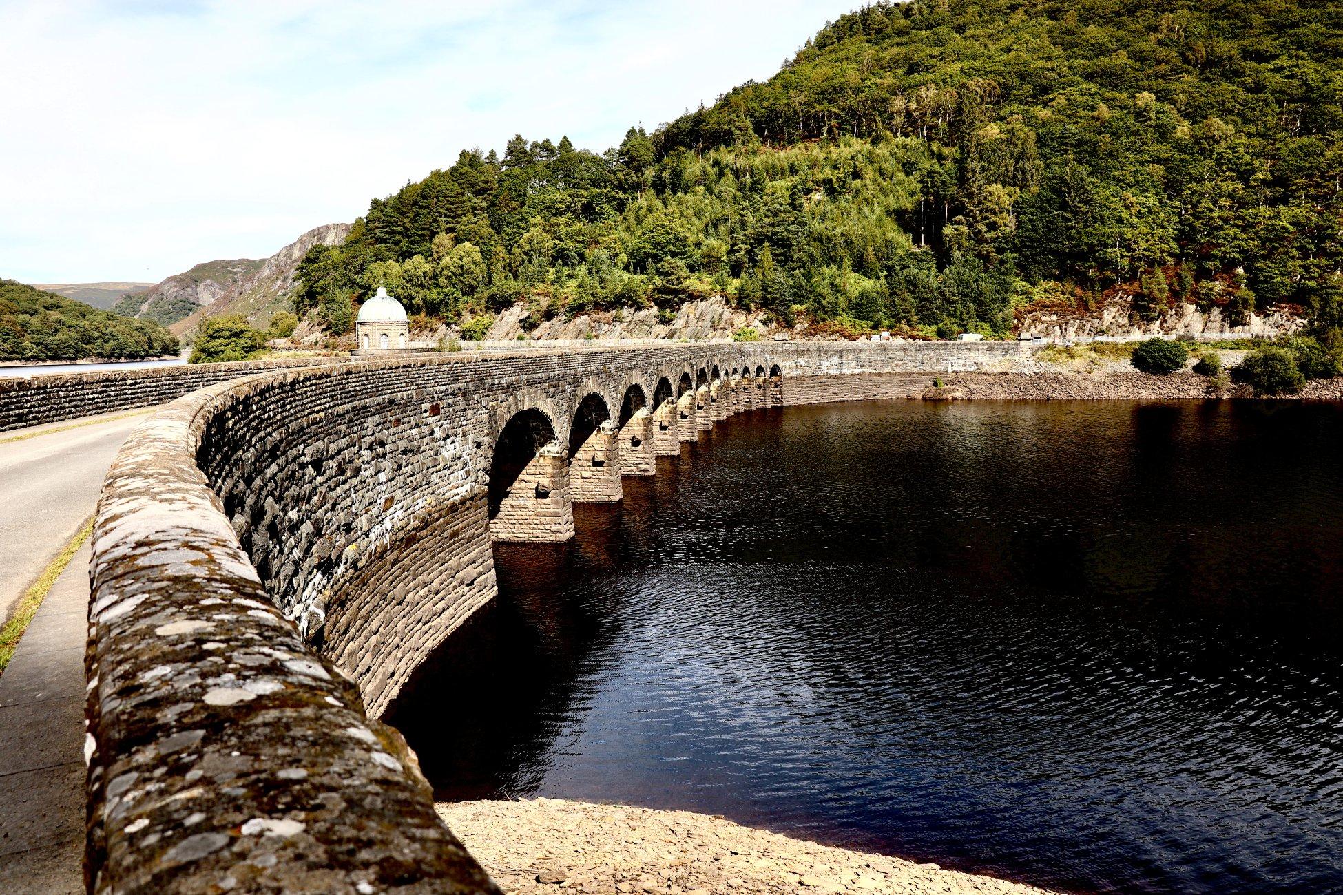 Elan valley dam.