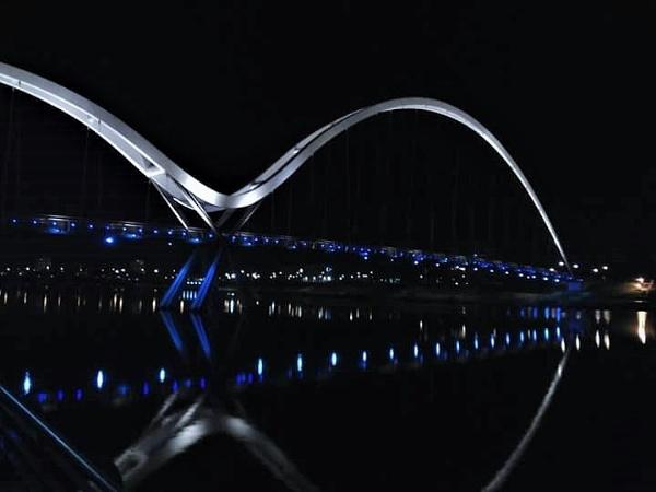 Infinity Bridge at Night by pjohnson68