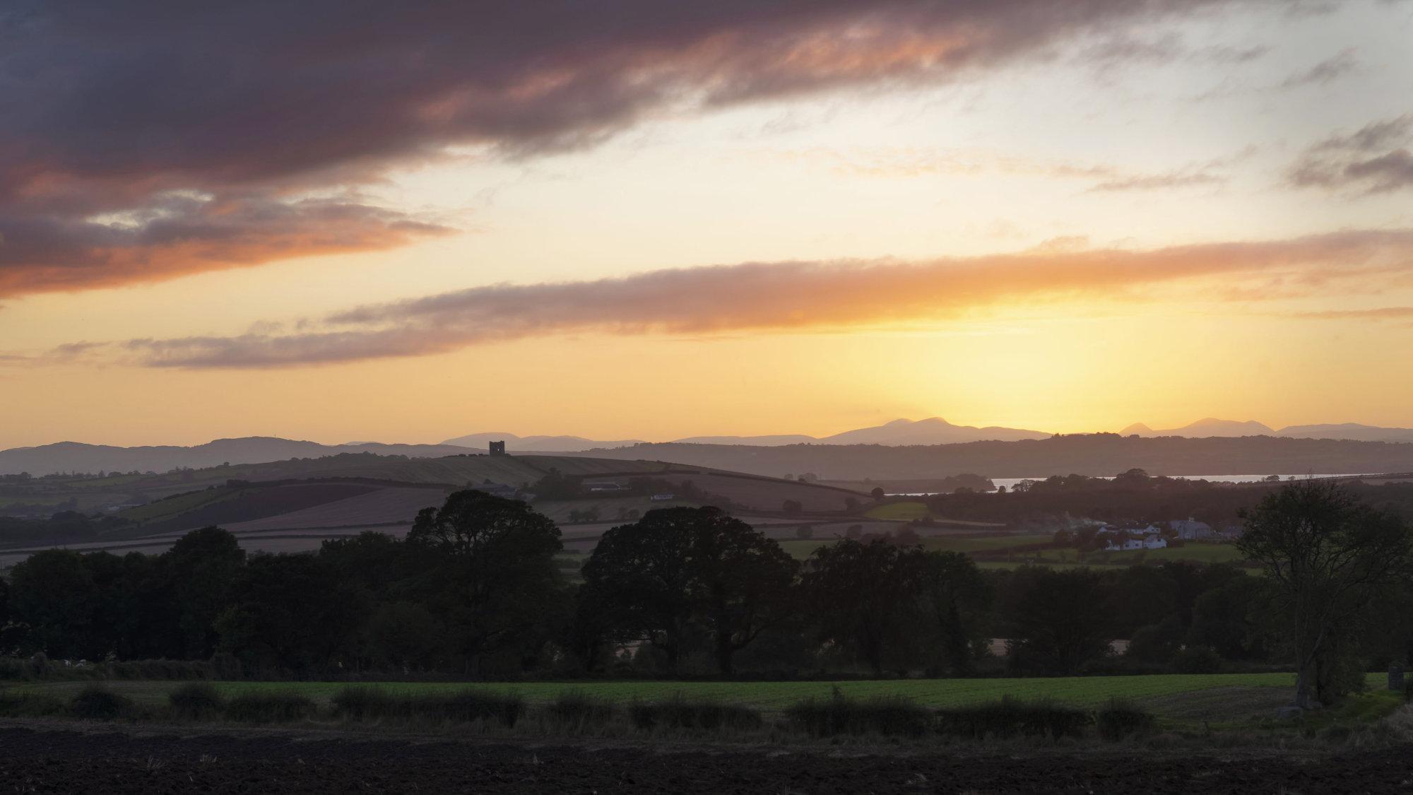 Burt Castle at sunset