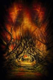 Dark hedges fire