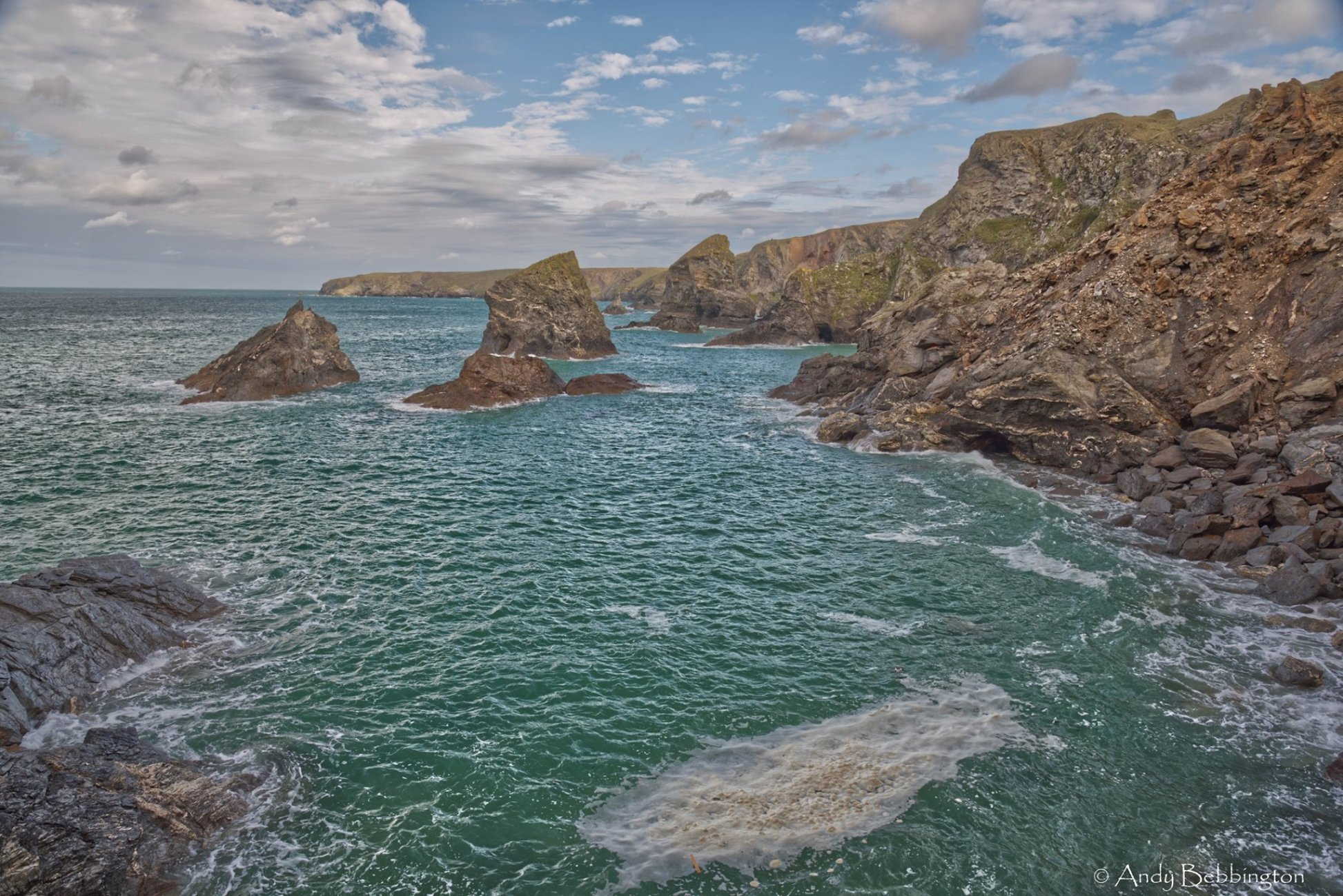 view from Bedruth steps Cornwall