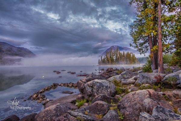 Emerald Island at Lake Wenatchee by dwnoll