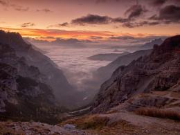 Dolomite valley view