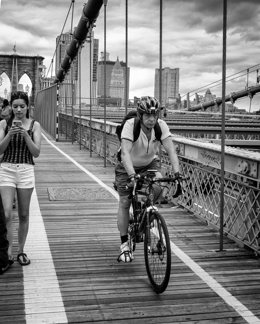 Crossing Brooklyn Bridge 1