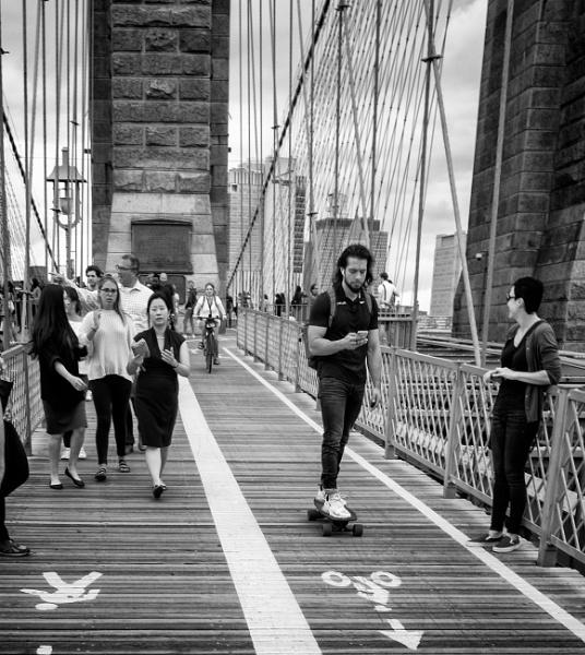 Crossing Brooklyn Bridge 2 by NevJB