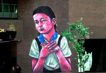 Wall Art. Quebec. Canada