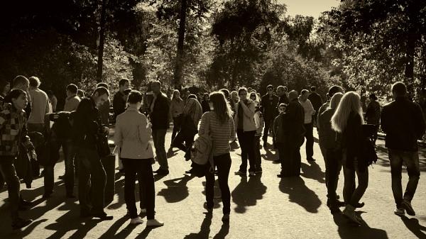 crowd shadows by leo_nid