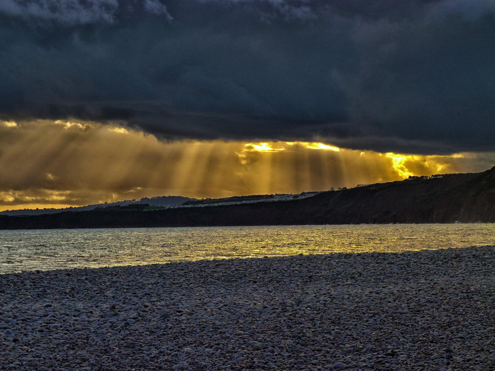 Sunbeams On The Sea - Budleigh Salterton, Devon