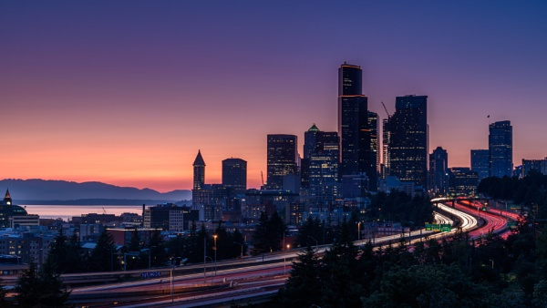 Seattle Skyline by bridgendboy
