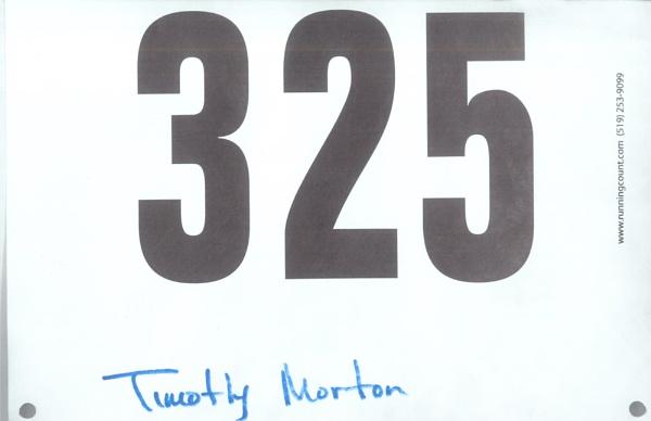 MY LATEST RACE BIB by TimothyDMorton