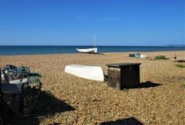All alone on the sea shore