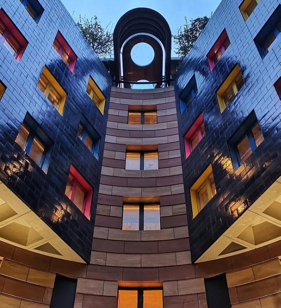 Colourful city buildings by StevenBest