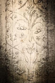 Ornaments on old roman column