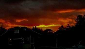 Sunset over Edinburgh.