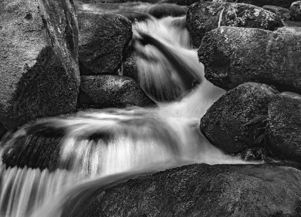 Waterfall in Monochrome by lagomorphhunter