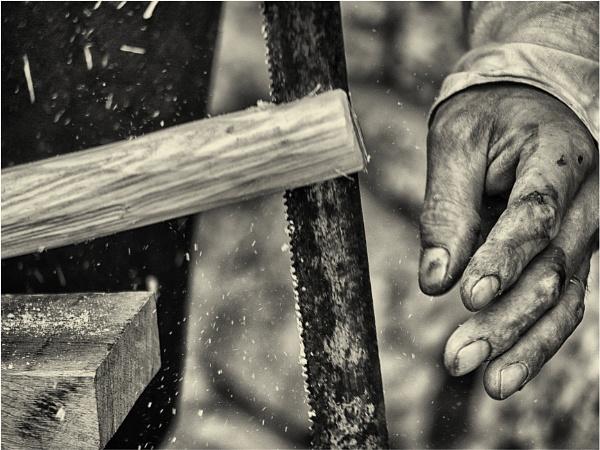 A medieval carpenter - 1 by franken