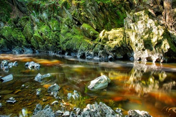 Fairy Glen Afon Conwy River by georgehopkins