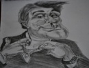 american chat show host in pencil by sparrowhawk