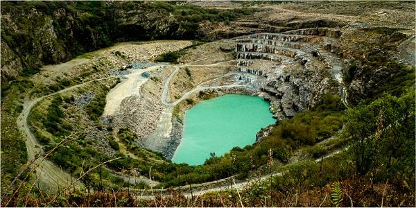 Delabole Quarry by Dixxipix
