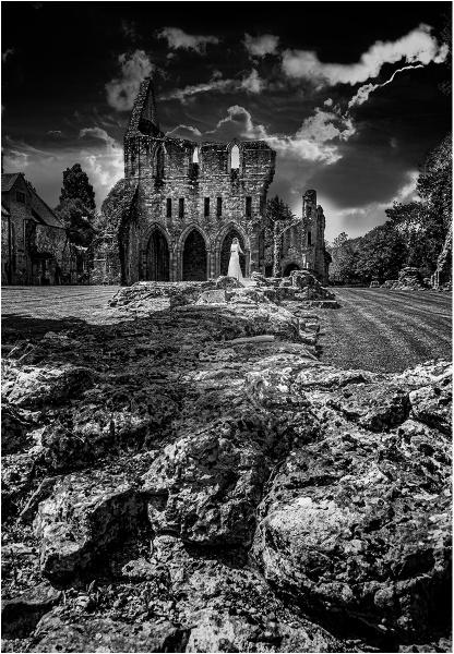 Wenlock Priory by Dixxipix