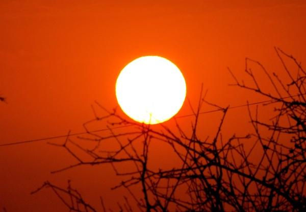 Red sunrise by Hermanus