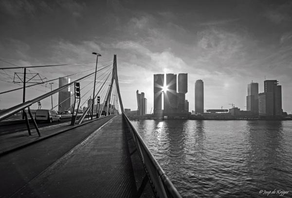 Skyline of Rotterdam by joop_
