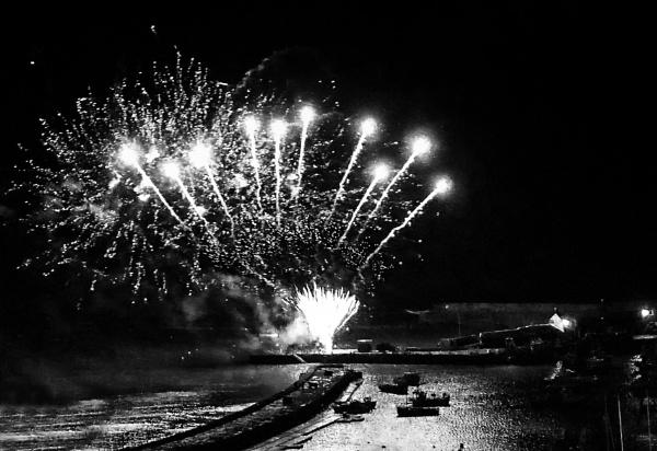 Lyme Regis Fireworks by starckimages
