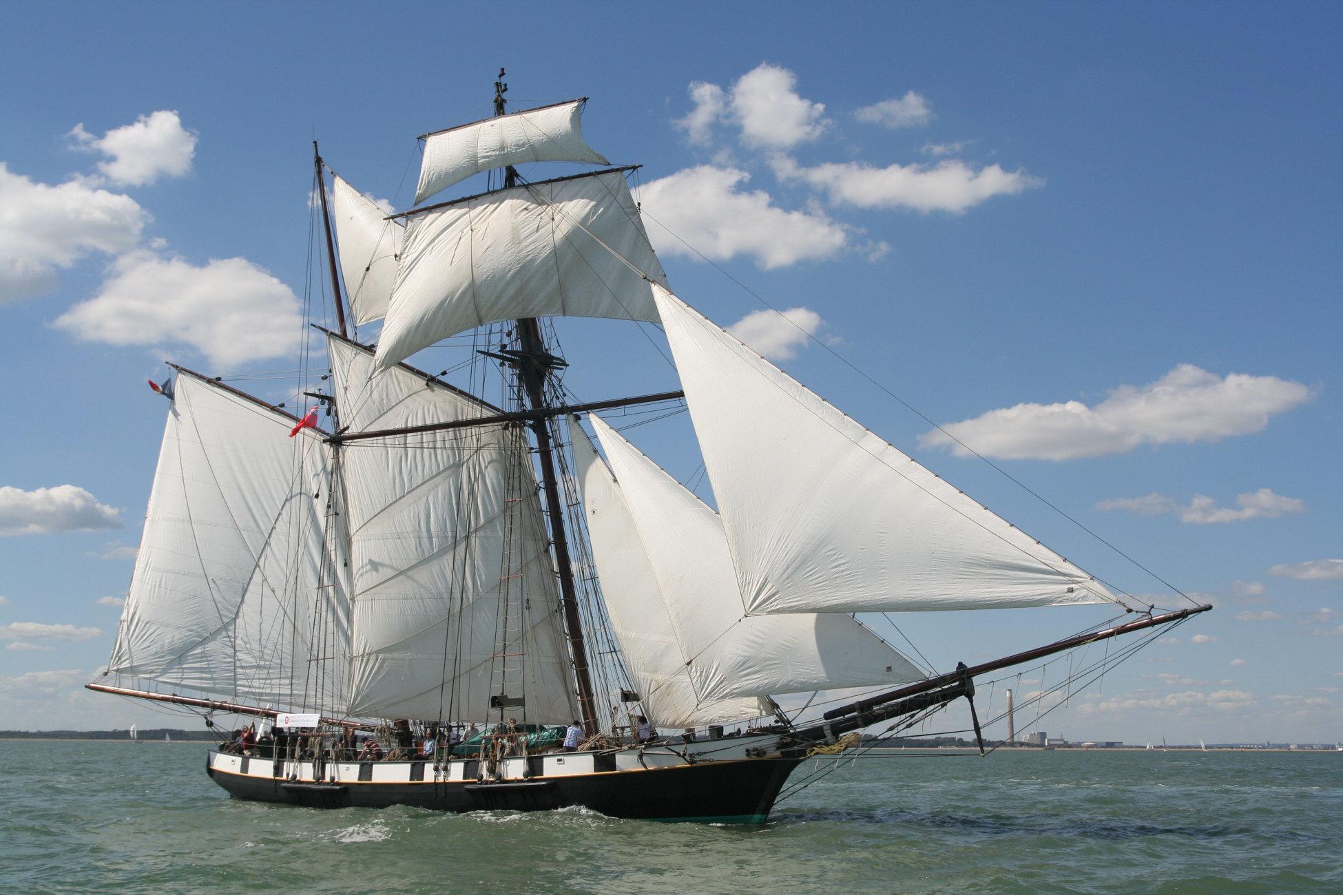 Full sail on HM training ship