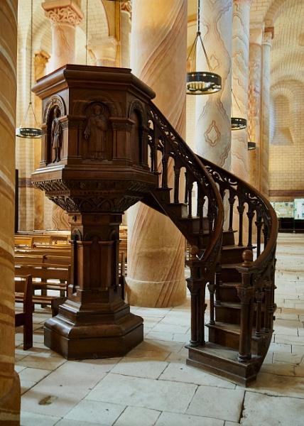 Pulpit, Saint Savin by Meditator