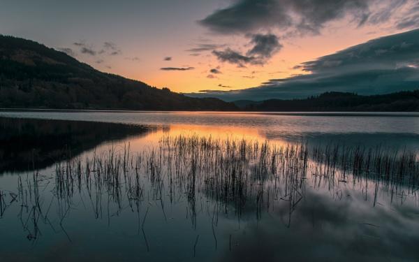 Loch Achray Dawn by flowerpower59