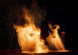 Man in fire