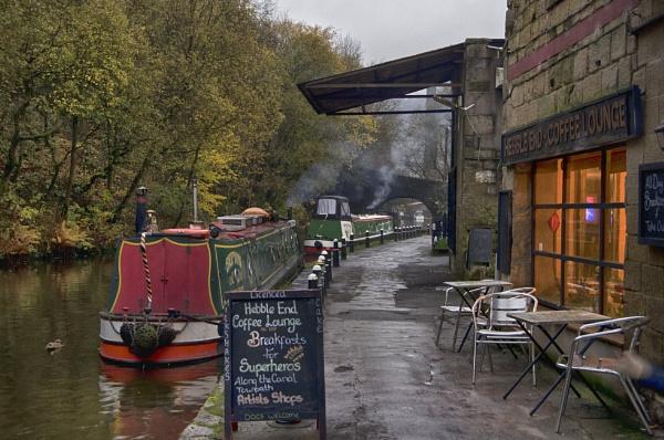 Canalside Cafe Hebble End Hebden Bridge by iangilmour