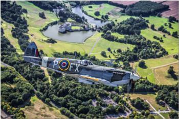 Spitfire over Leeds Castle