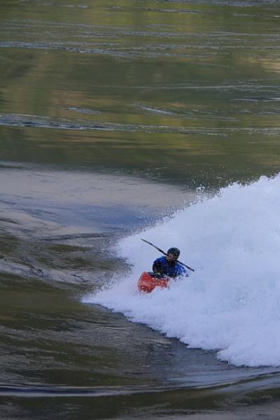 Kayaker at Skookumchuck Narrows by Bear46404