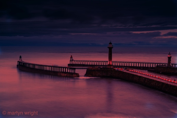 Whitby at sunriise by mmart