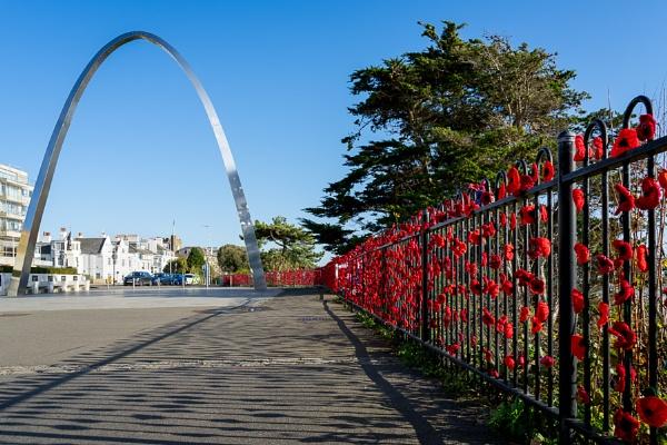 FOLKESTONE, KENT/UK - NOVEMBER 12 : View of the War Memorial squ by Phil_Bird