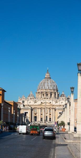 View to Saint Peter basilica by rninov