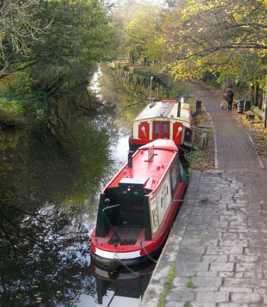 Leeds/Liverpool canal as it passes through Saltaire, West Yorkshire by jerseygirl65