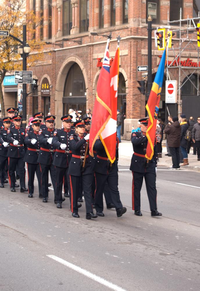 COLOURS OF THE HAMILTON POLICE SERVICES AT HAMILTON REMEMBRANCE GARRISON SERVICE