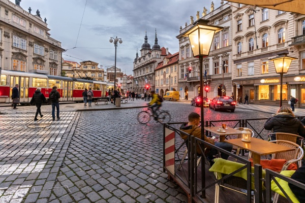 Malostranske Square, Prague by Johnpics