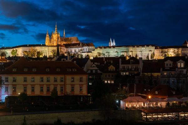 Prague Castle at evening by Johnpics